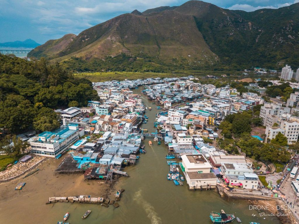 tai o fishing village aerial view