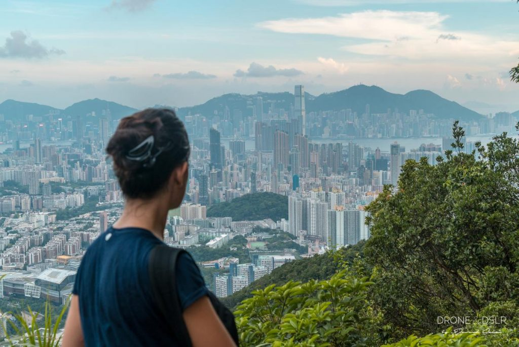 view from beacon hill lookout hong kong