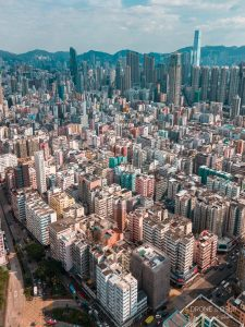 Sham Shui Po, Hong Kong aerial photo