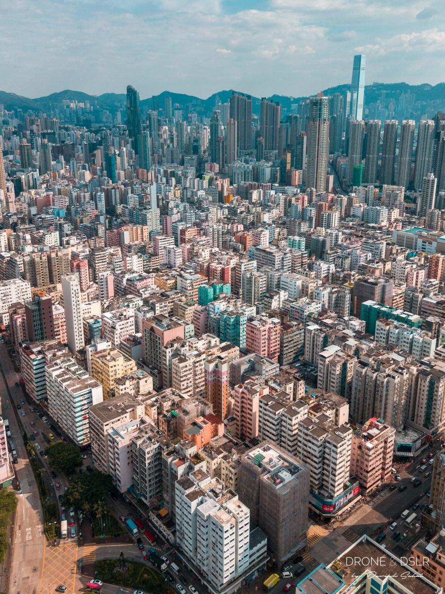 Sham Shui Po, Hong Kong aerial photo