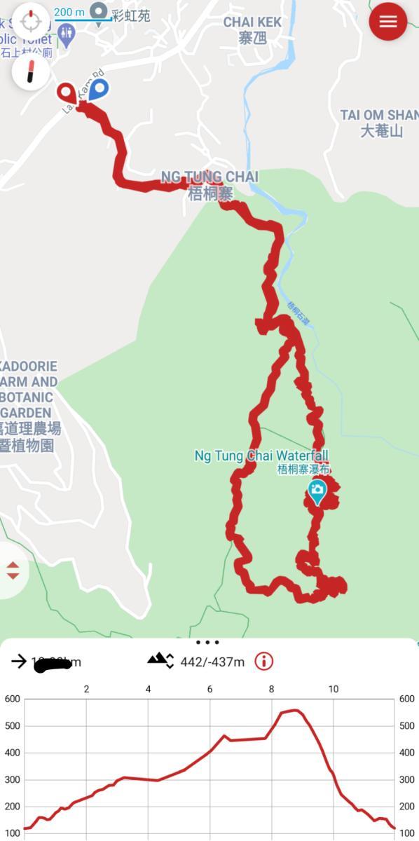 Ng Tung Chai Waterfalls Hike map