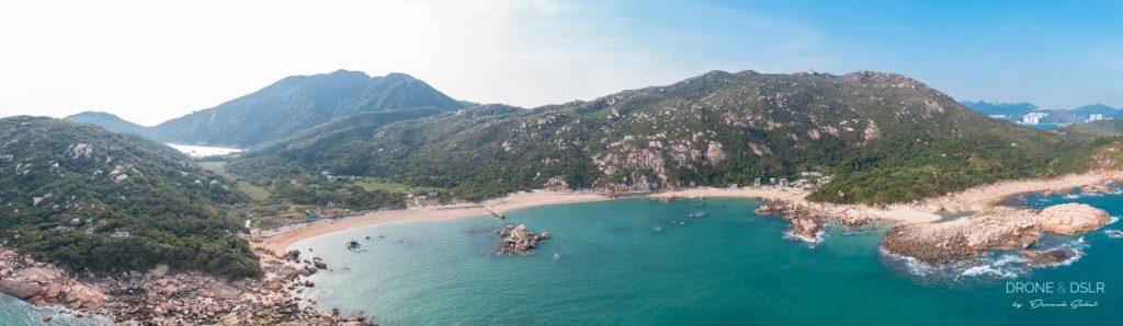 shek pai wan beach lamma island hong kong aerial panorama