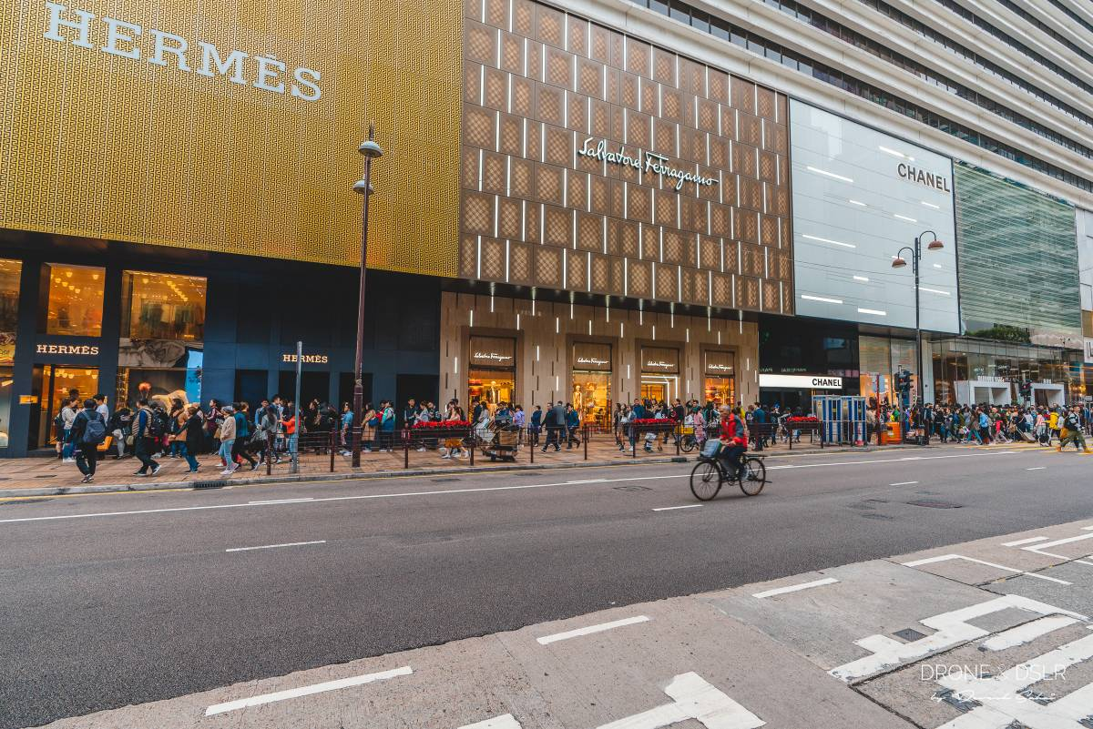 canton road tsim sha tsui is hong kong's high street for luxury shopping