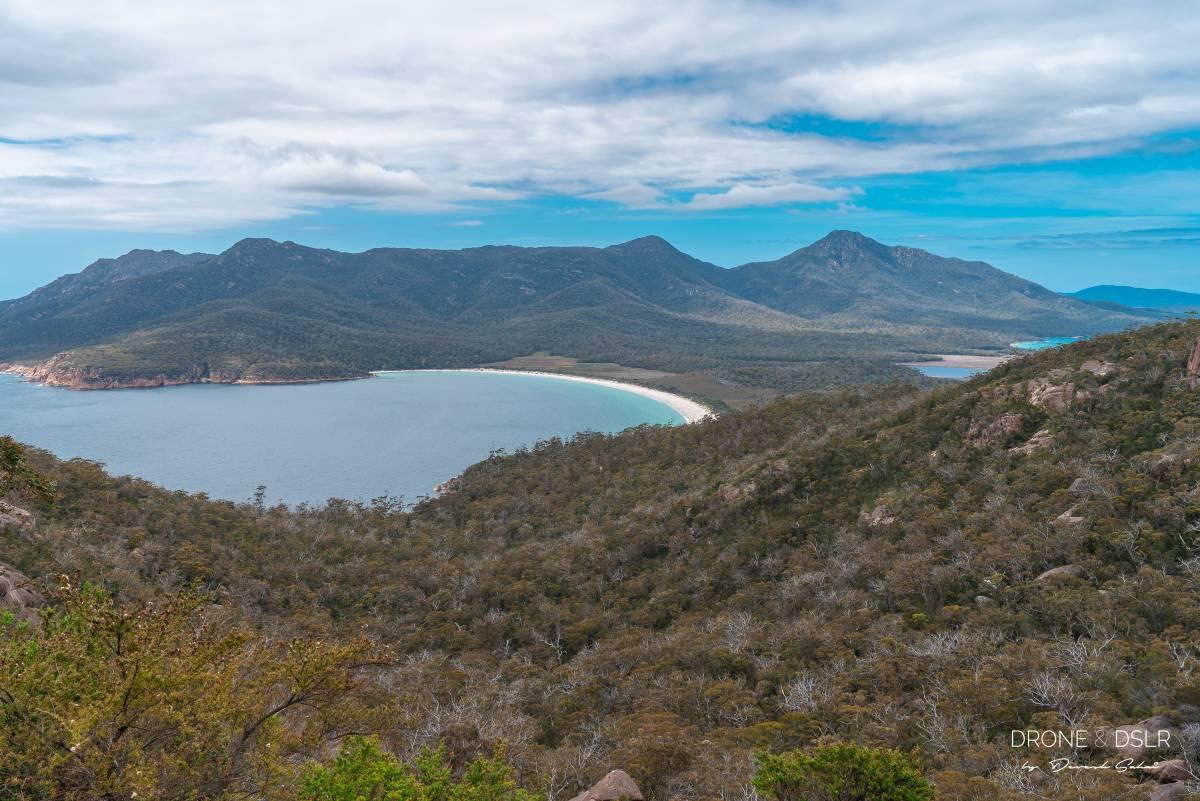 View of Wineglass Bay, Freycinet National Park, Tasmania