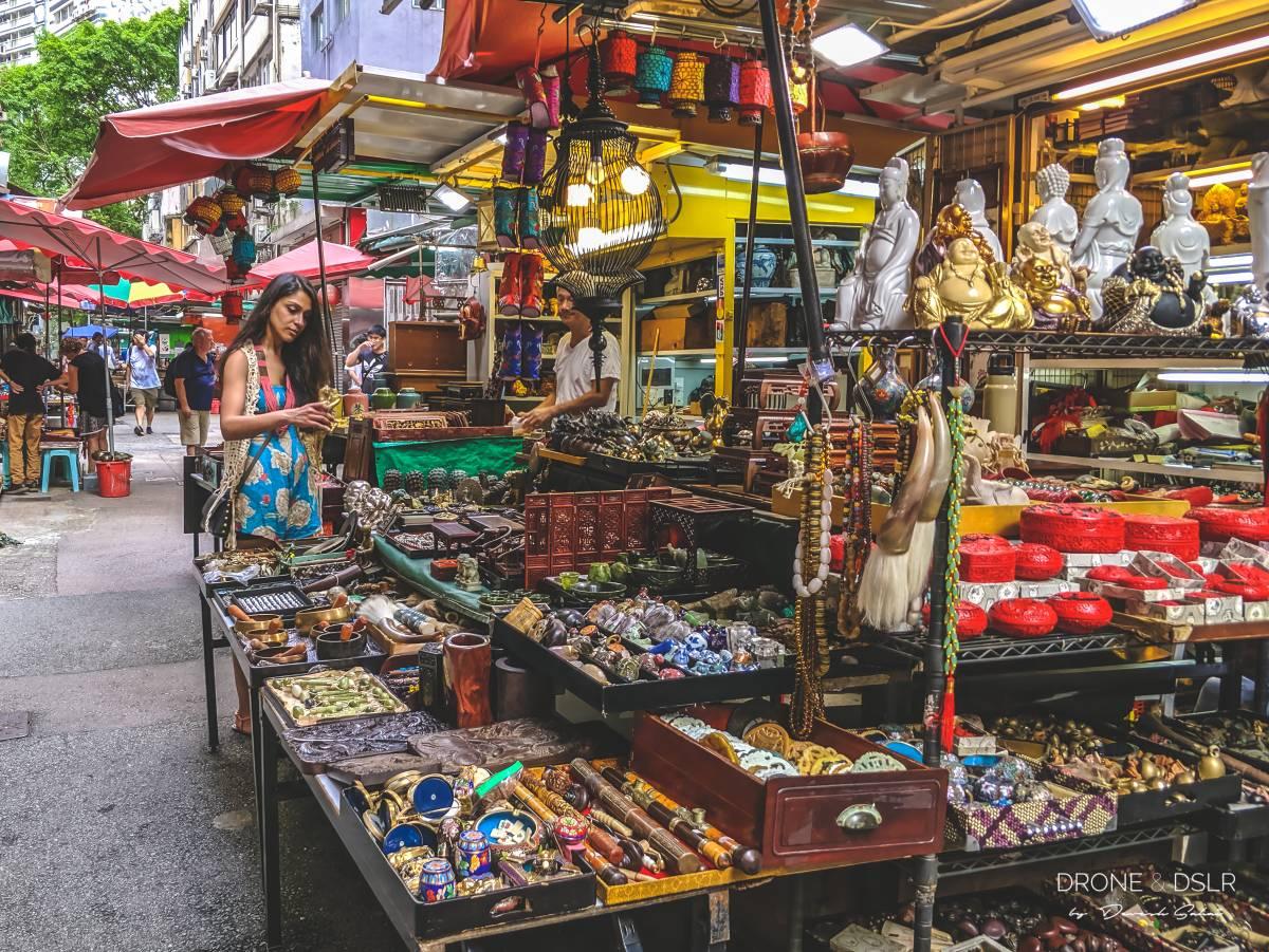 antiques street in sheung wan hong kong