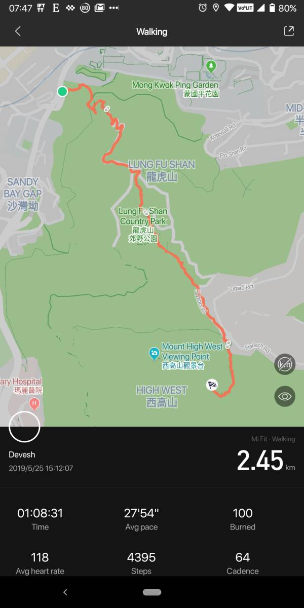 Mount High West hike map from HKU