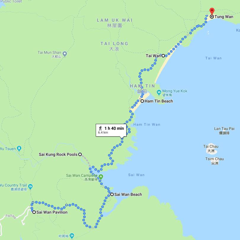 tai long wan day hike map
