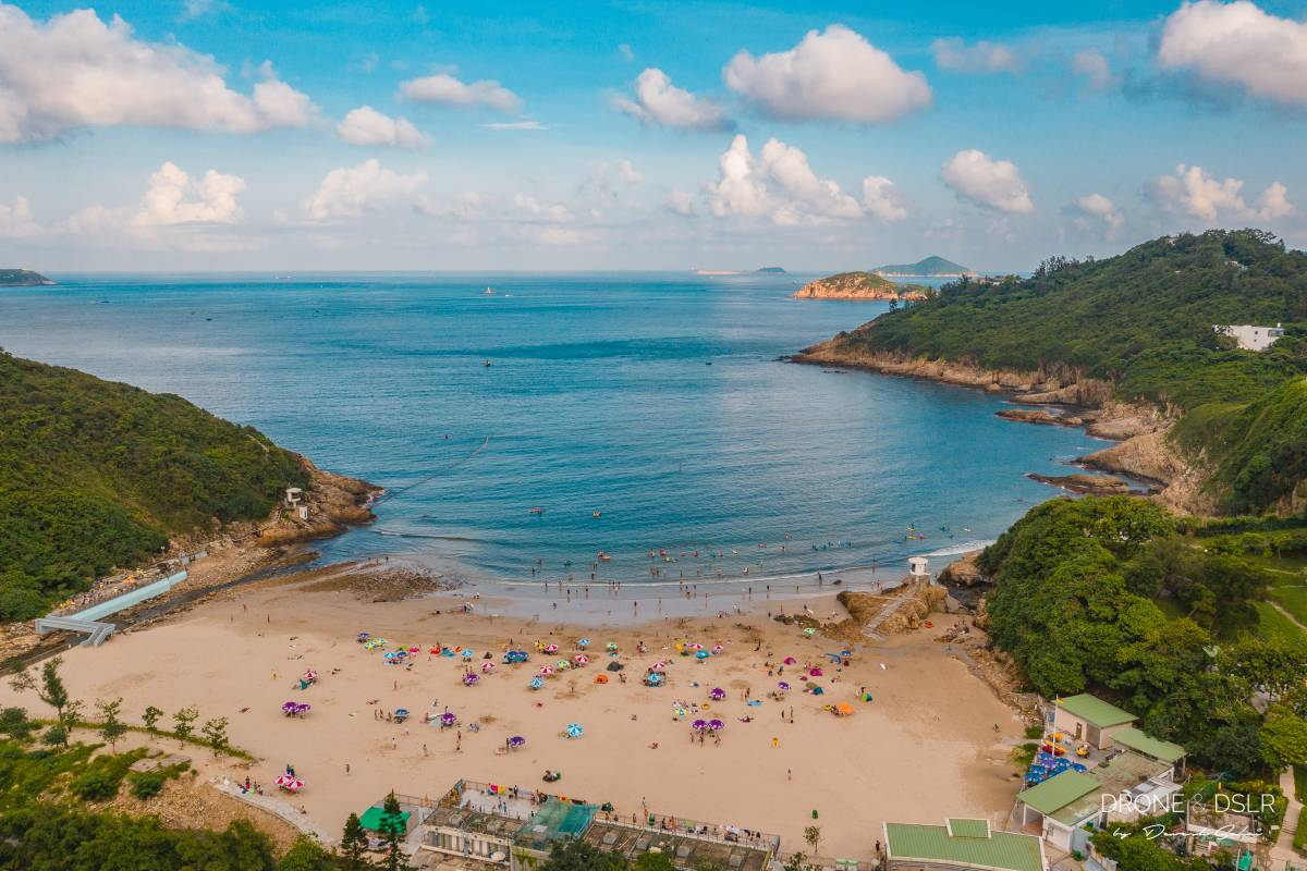 Big Wave Bay Beach, Hong Kong aerial photo