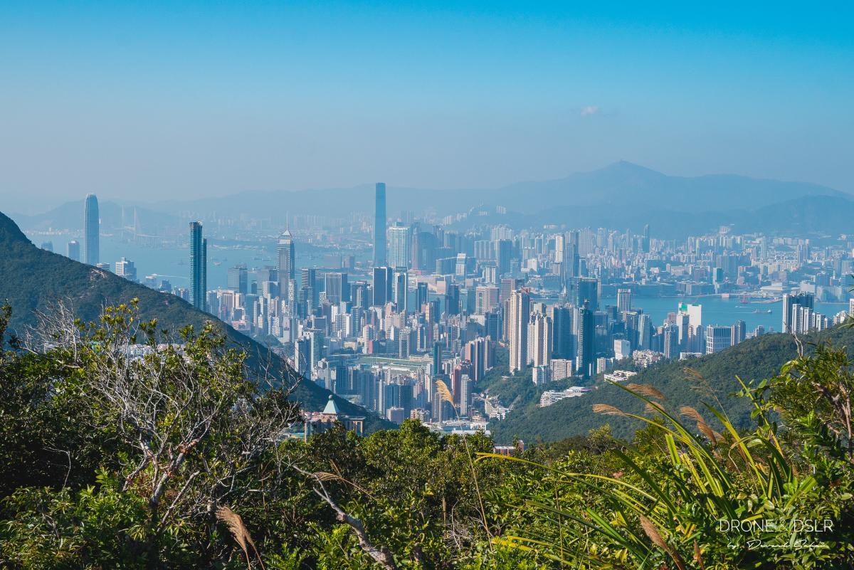 View of Hong Kong skyline from Violet Hill