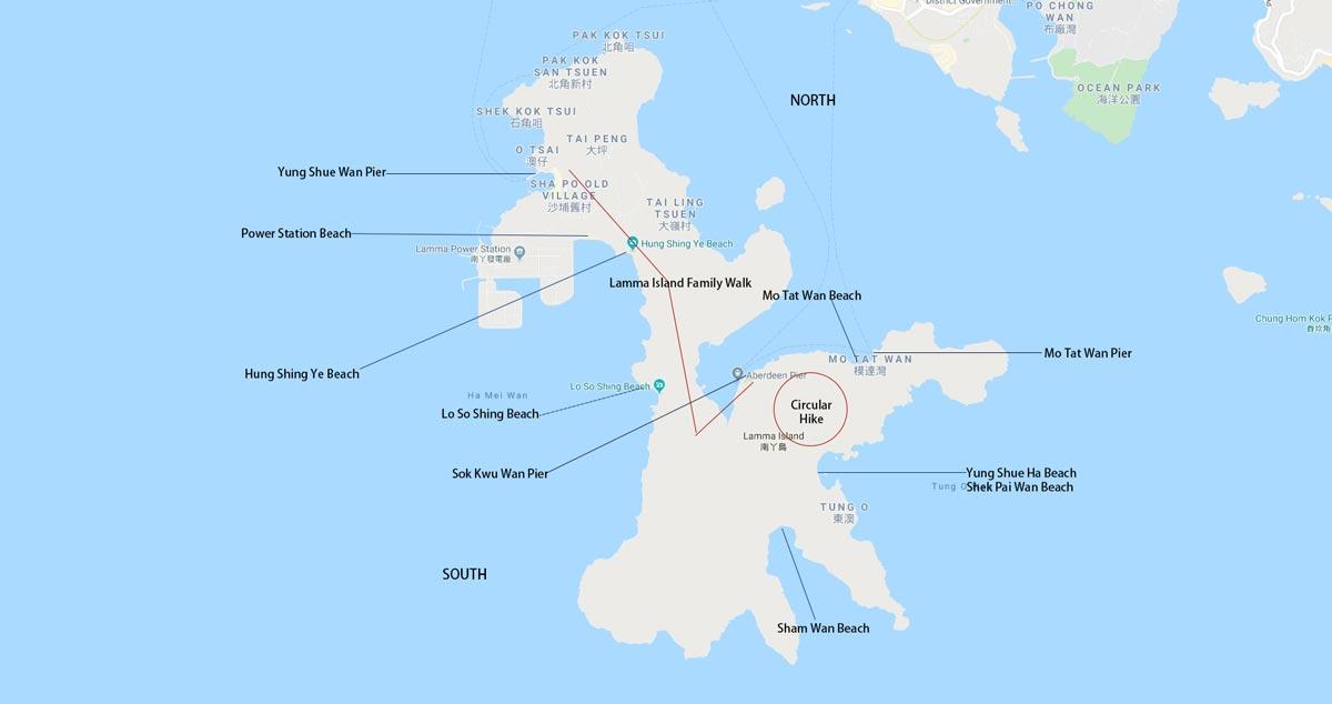 lamma island things to do map
