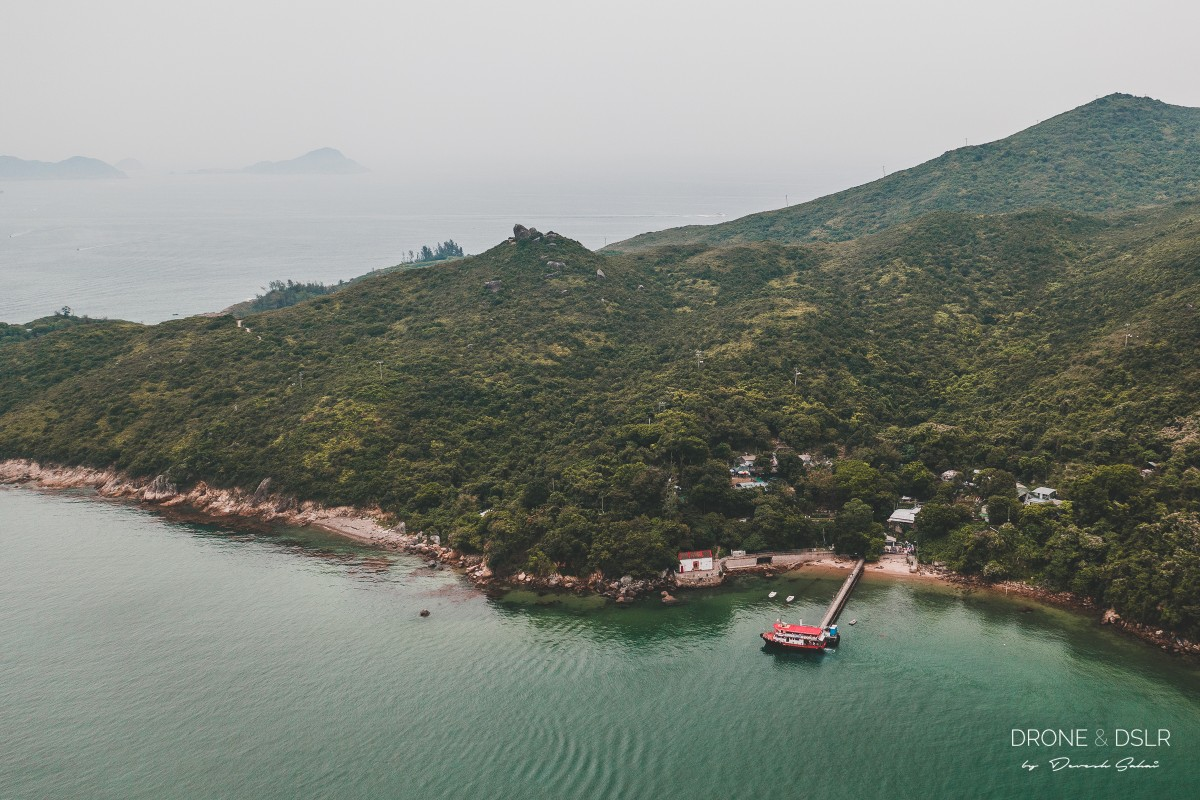 Aerial view of Tung Lung Chau