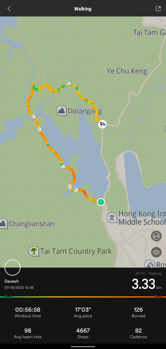 Tai Tam Tuk Reservoir Circular Walk Map