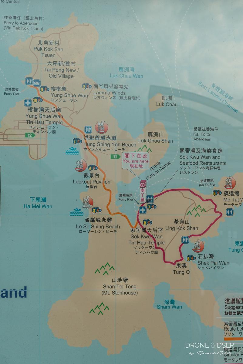 lamma island map
