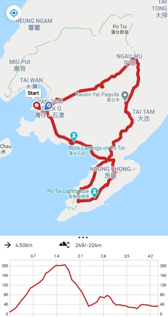 Po Toi Island hike map