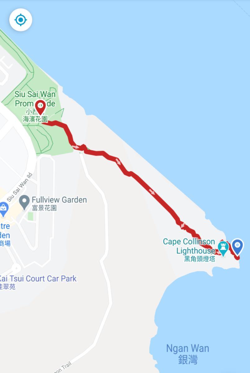 Cape Collinson walk map
