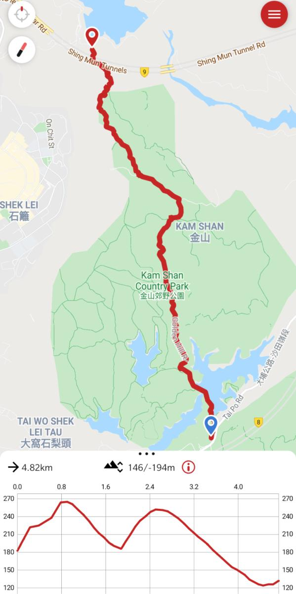 Maclehose Trail Section 6 Map
