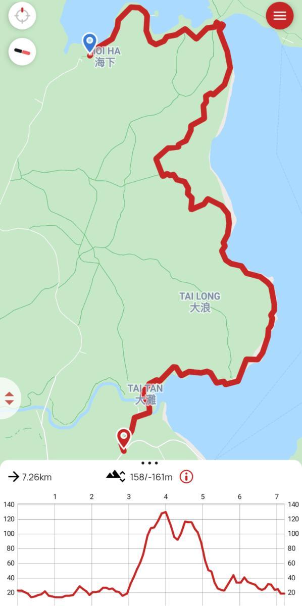 Tai Tan Country Trail map