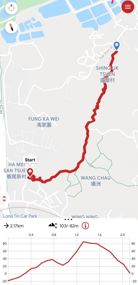 Kai Shan Hike map